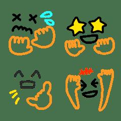 Colorful face emojis 4