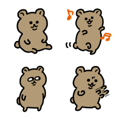 可愛的熊表情符號