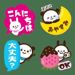 Colorful Emoji1. Cute Rabbits & Panda.