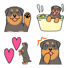 Dog emoji Rottweiler