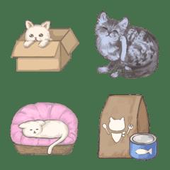 อิโมจิไลน์ Assorted cats Emoji