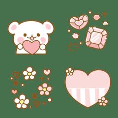 粉红心和少女♡可愛的表情符號2