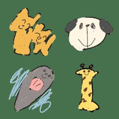 อิโมจิไลน์ oekaki mitaima emoji8 animals