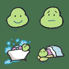 อิโมจิไลน์ Happy Turtle Lily Emoji