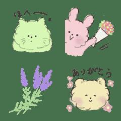 อิโมจิไลน์ pretty_cat_rabbits_bear
