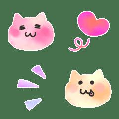 อิโมจิไลน์ Kawaii watercolor cat