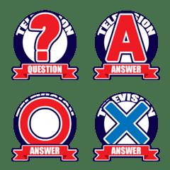 クイズ番組的なロゴマーク