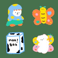 อิโมจิไลน์ chubby tiny emoji