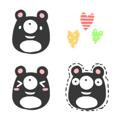 อิโมจิไลน์ cute black bear