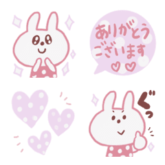 Rabbit emoji of polka dots