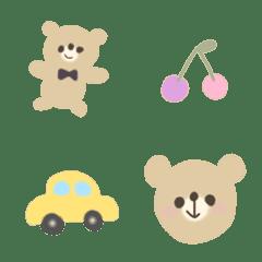 cute bears and heart Emoji.