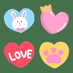 Tiny heart love pastel emoji
