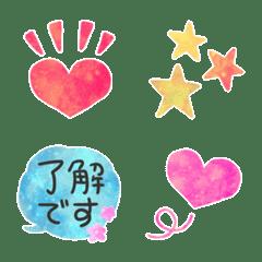 Pop standard marble painting emoji