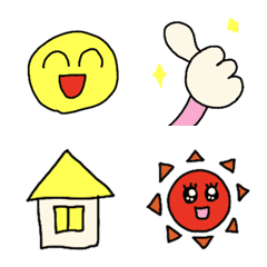 simple smile emoji sets