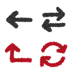 各種箭頭(符號-→)2種顏色