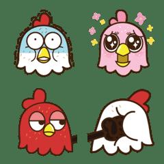 雞雞喳喳與雞白-三隻雞的表情貼