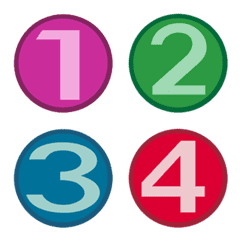 number on circle background