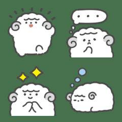 Monochrome sheep emoji