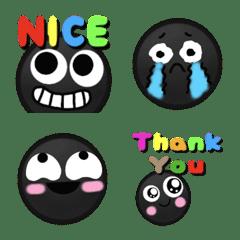 black smile face emoji 2