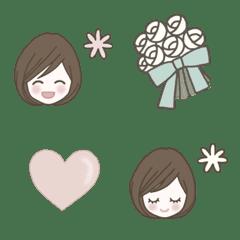 cute girl & items emoji