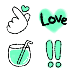 emerald green emoji