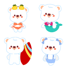 Polar bear : summer on the beach emoji