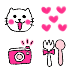 deep pink emoji