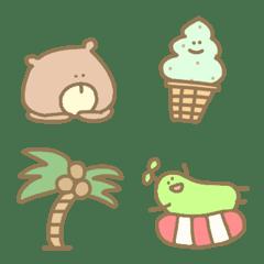 อิโมจิไลน์ Pastel cute simple animal useful summer