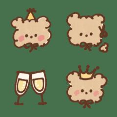 Fluffy teddy bear. 3 (Emoji)