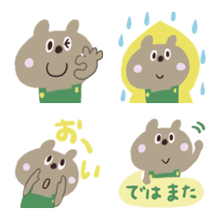 Brown bear emoji of various faces