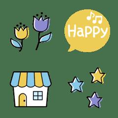 Fashionable and simple emoji 2