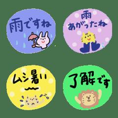 Greetings emoji of the rain...