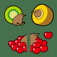 可愛的獼猴桃表情貼紙
