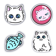 Fluffy Cat Emoji Vol. 3