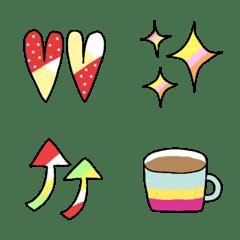 อิโมจิไลน์ Colorful emoji that can be used a lot