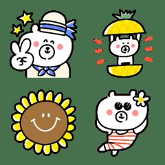 อิโมจิไลน์ My favorite bear emojis in summer part3.