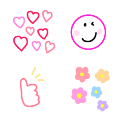 Colorful smile emoji.