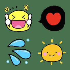 Convenient smile emoji