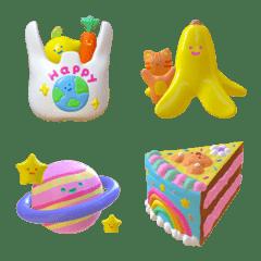 tiny 3D emoji