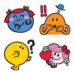 Mr. Men Little Miss Emoji