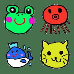 Somehow, it's cute. Emoji.