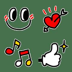 อิโมจิไลน์ The simple and chic Emoji (With edging)