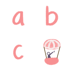 อิโมจิไลน์ อักษรภาษาอังกฤษ สีชมพู พาสเทล