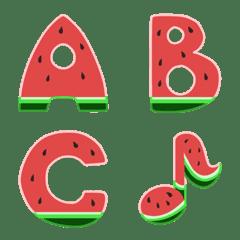 อิโมจิไลน์ Watermelon Cute Emoji