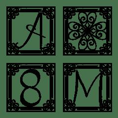 อิโมจิไลน์ Alphabet with frame vol.1 Uppercase