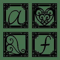 อิโมจิไลน์ Alphabet with frame vol.2 Lowercase