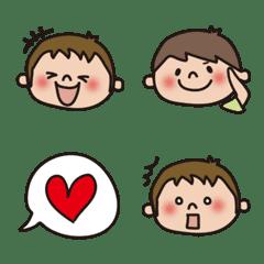 อิโมจิไลน์ Boy Emoji [Tegakids Official]