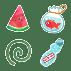 Summer retro emoji