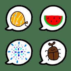 อิโมจิไลน์ simple speech bubble emoji summer