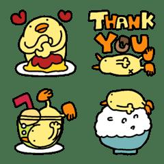 Piggy Piyo cheerful Emoji